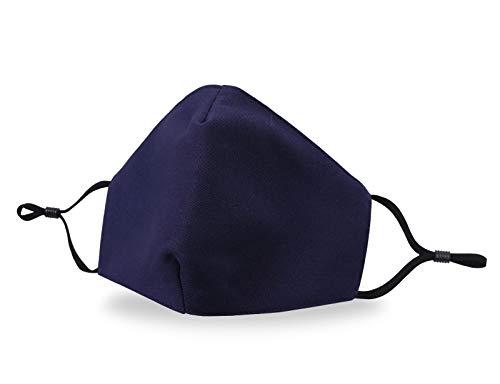Allsense Unisex Premium Quality Protective Durable Reusable Breathable Comfortable Fashion Face Scarf Mask Covering Cotton Navy 1pk