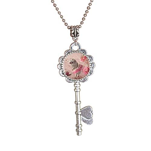 Colgante de cristal de erizo en niebla llavero regalos joyería de moda, regalo de erizo, joyería de erizo, erizo lindo, PU005