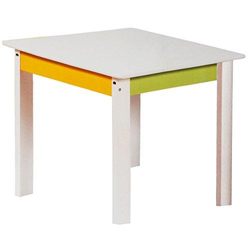 alles-meine.de GmbH 1 Tisch für Kinder - aus sehr stabilen Holz -  weiß / grün / gelb  - Kindertisch - Kindermöbel für Jungen & Mädchen - Kinderzimmer für Circa 1 - 3 Jahre - f..