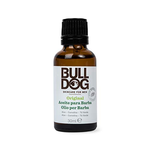 BULLDOG SECURITY Cuidado Facial Para Hombres, Aceite Para Barba Original, Marrón, 30 ml