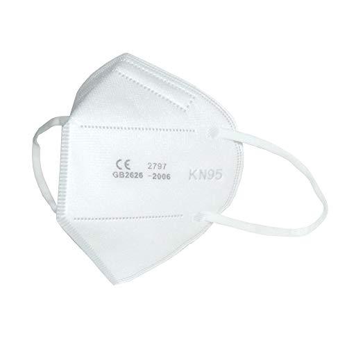 Maschera facciale S3+ KN95/FFP2 senza valvola (confezione da 10 pezzi). CERTIFICATE CE + CERTIFICATE FDA (FILTRAZIONE MASSIMA E AFFIDABILE)
