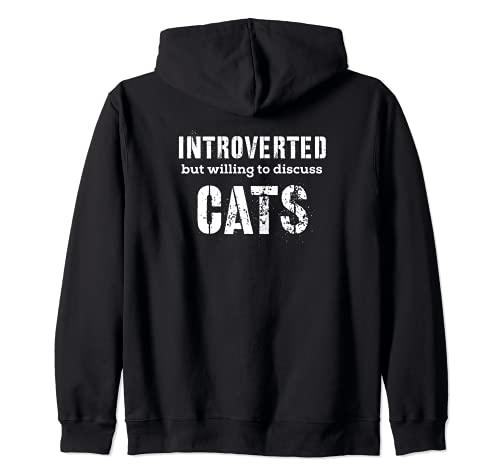 Regali introversi per gli amanti dei gatti che parlano di gatti Felpa...