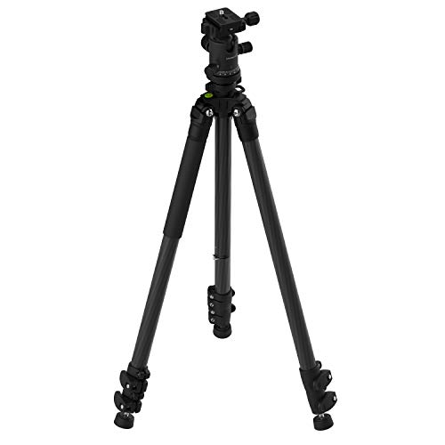 Sabrent 62 Inch Carbon Fiber Tripod with 360 Degree Camera Mount (TP-CF62)