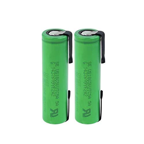 josiedf 3.6v 2600mah 18650 Batería De Iones De Litio De Litio, Recargable para El Control Remoto del MicróFono De La Linterna del Banco De Energía 2PCS