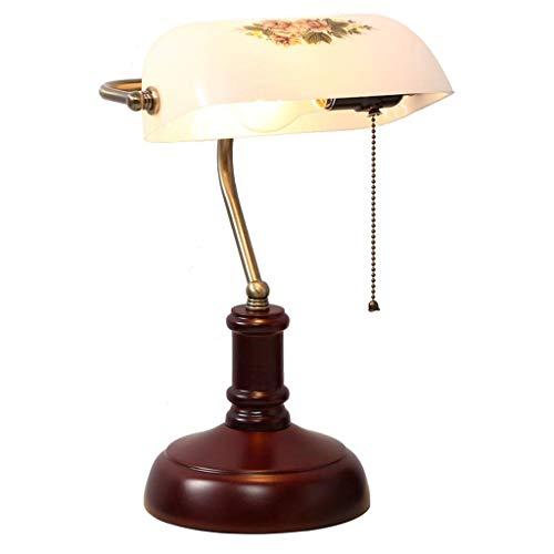 ZEFENG lámparas Dormitorio, Lámpara clásica de mesita de Noche Retro para Dormitorio, Dormitorio de Ropa de Cama Lámpara de Mesa de mesita de Noche con Techo de Tela E27 lámpara de Mesa