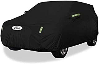 Asdfnfa Car Cover SUV Thick Oxford Cloth Sun Protection Rainproof Warm Cover Car Cover (Color : Oxford Cloth - Built-in Lint)