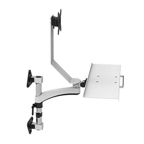 Bandeja Teclado Bandeja de soporte de mesa de montaje de estaciones de trabajo, altura de pie ajustable turística, ergonómico, monitor, teclado del ordenador portátil y el monte ( Size : C )