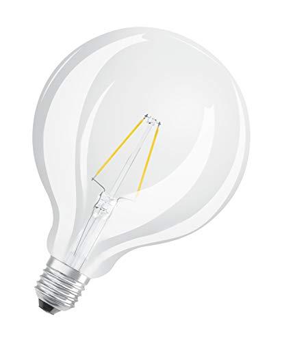 Osram CL G125 LED Retrofit Filament Globe E27, 2.5 W equivalente 25 W, Chiara, Confezione da 1
