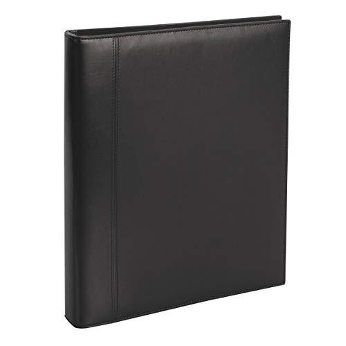 "Office Depot Brand Premium Leatherette Presentation Binder, 1"" Rings, Black"