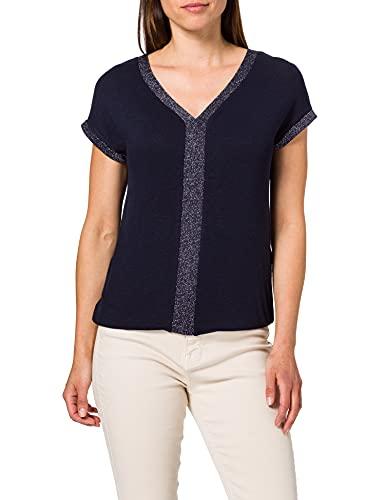 Street One 316221 T-Shirt, Bleu foncé, 42 Femme
