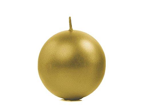 SiDeSo® 4 Stück Kugelkerzen Kerze (6cm Gold metallik)