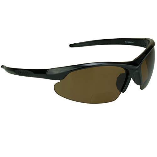 proSPORT Polarized Bifocal Brown +2.50 Sunglasses for Men and Women. Anti Glare Impact Resistant Polycarbonate Lenses