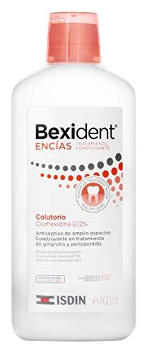 ISDIN Bexident Encías Tratamiento Coadyuvante Colutorio, Clorhexidina 0,12% 1 x 500 ml
