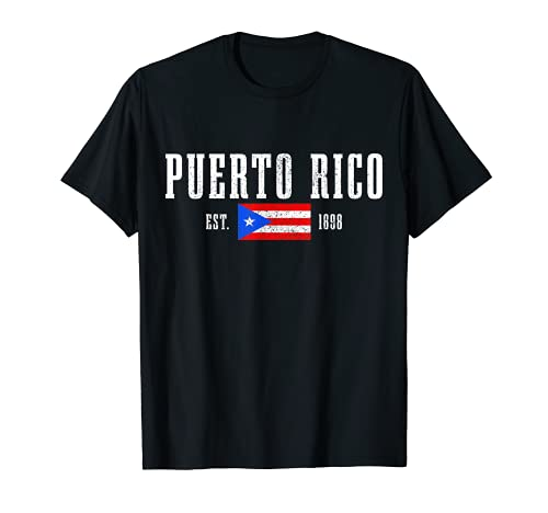 Puerto Rico Est. 1898 Puerto Rican Flag Pride T-Shirt