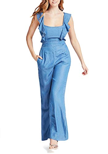 Guess Damen Glad Jumpsuit Overall, Blu, XS