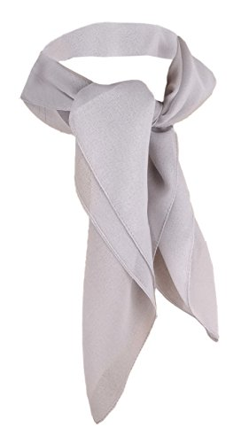 TigerTie - nicki paño de gasa - plata gris tamaño 50 cm x 50 cm - paño pañuelo bufanda
