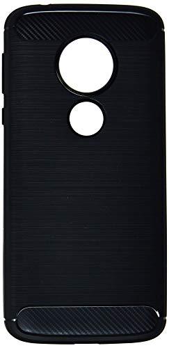 Capa Carbon Fiber para Motorola Moto G6 Play, iWill, BCF MG6 PLAY BK, Preta