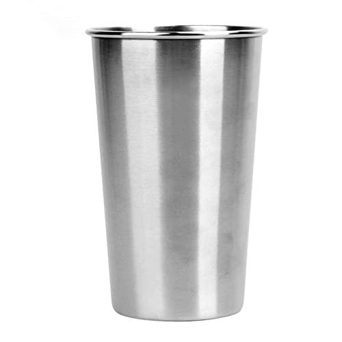 Vasos de acero inoxidable de 350/500 ml, vasos de 16 onzas, vasos de pinta de 18/8 tazas de metal, vaso de café, tazas de té y leche para viajes al aire libre (capacidad: 350 ml)