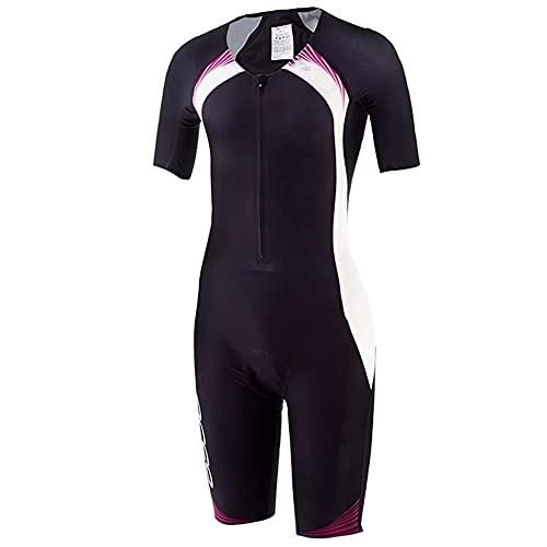 Triathlon Abiti da uomo -TRI ABITI for UOMINI CON MANICHE -TRISUIT TRIATHLON UOMO-Kit da uomo TRI -Skinsuit (Color : 4, Size : XX-Large)