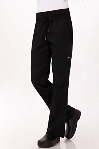 Chef Works Women's Comfi Chef Pants, Black, Medium