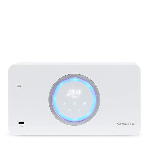 IKOHS Air Pure Compact - Purificador de Aire, con Altavoz bluetooh y Cargador de Móvil Wireless, Filtro Hepa, Silencioso, Polivalente, 8W, Compacto (Blanco)