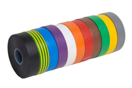 Preisvergleich Produktbild Guilty Gadgets Isolierband,  elektrisch,  PVC,  18 mm x 10 m,  flammhemmend,  10 Rollen