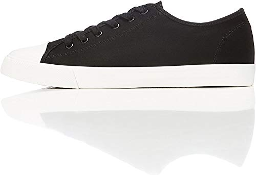 find. Low-Top Zapatillas bajas de lona, Negro (Black), 40 EU
