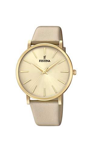 Festina Damen Analog Quarz Uhr mit Leder Armband F20372/2