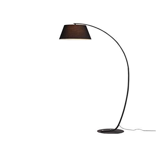 Lampara de pie LED Regulable Luz de Pie para Salon, Dormitorio, Estudio y Leer, Diseño Moderno, Luz Cuidado Ojos, Bajo Consumo, Negro [Clase de eficiencia energética A],Black 12w Warm Light