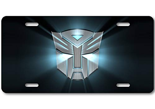 Voss Collectables Transformers Autobot Metal Logo Aluminum Car Truck License Plate Tag Light