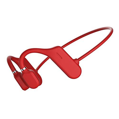 Bluetooth 5.0 Auriculares de Conducción ósea con Micrófono, Auriculares Abiertos Inalámbricos a Prueba de Sudor, Sonido Envolvente 6D, para Correr, Correr, Conducir, Ciclismo, Casa y Oficina