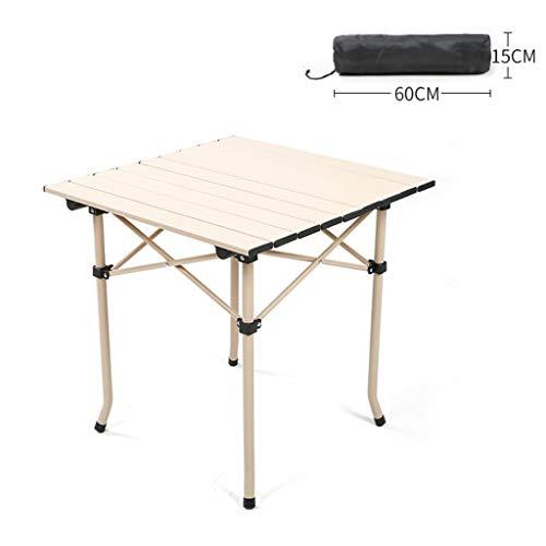 Bureau Simple portatif réglable de Table en Aluminium de Barbecue en Aluminium Pliable de Table de Camping (Taille : A)