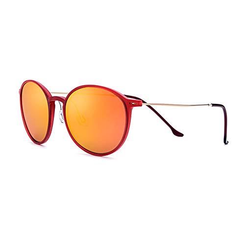 WHSS Gafas de Sol UV400 Marco De Titanio Ultraligero Gafas De Sol De Gama Alta Hombres TR90 Retro Gafas De Sol Redondas De Pesca Conducir Señoras Polarizador