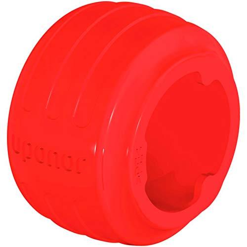 Q&E Evolution Ring, 25 mm, konisch, für einfaches Einführen in das Rohr, verstärkte Endkappen, ergonomisches Design mit Identifikation, Rot (Referenz 1058012)