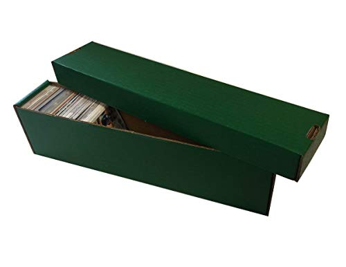 (25) GREEN 800 Count 2 Piece Box - Premium Vertical Storage Box - Baseball, Football, Basketball, Hockey, Nascar, Sportscards, Gaming & Trading Cards - By Max Pro Collecting Supplies image