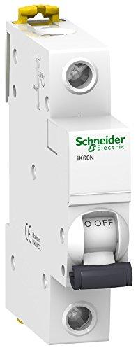 Schneider Electric A9K17110 IK60N Interruptor Automático Magneto Térmico, 1P, 10A, Curva C, 78.5mm x 18mm x 85mm, Blanco