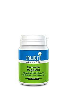 Curcumin Megasorb - 60 Tablets by Nutri Advanced - Curcumin C3 Complex with BioPerine