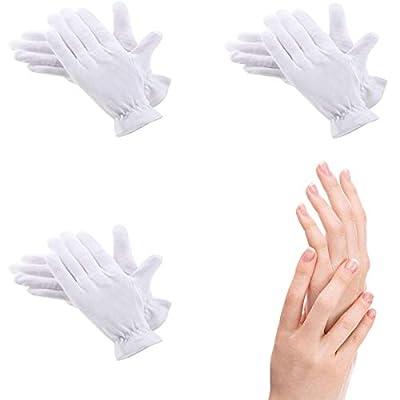 3 Paar weiße Baumwoll-Handschuhe