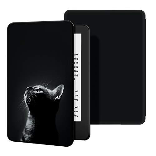 Estuche Ayotu para Kindle Completamente (10ª generación, versión 2019) - Funda de Cuero de PU Compatible con el Kindle 2019 de Amazon (no encajará con Kindle Paperwhite o Kindle Oasis),The Cat 2