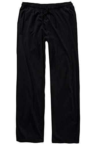 JP 1880 Herren große Größen bis 8XL, Pyjama-Hose aus 100{c875d63491b16e5f93f040215d7a890d54c83e92823cd8c0c56a9aa8e8968e04} Baumwolle, Schlafanzug-Hose, Sweatpants mit elastischem Bund schwarz 5XL 708406 10-5XL