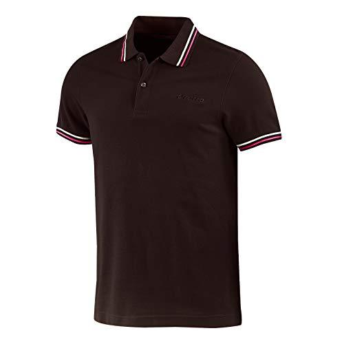 Lotto Polo Herren T-Shirt Piquet Baumwolle Meer Tennis Boot Fußball Sport - L73 Polo PQ PJ - Größe L - Hauptfarbe Braun BRW GND/PNK FL T7018