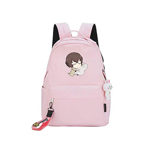 ZZGOO-LL Bungo Stray Dogs Anime Backpacks Rucksack School for Men Women,Work,Tablet USB Unisex