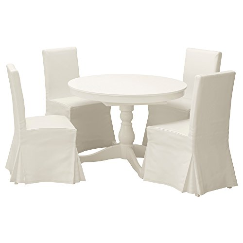 ZigZag Trading Ltd IKEA INGATORP/HENRIKSDAL Stuhl, Tisch und 4Stühle weiß/Blekinge weiß