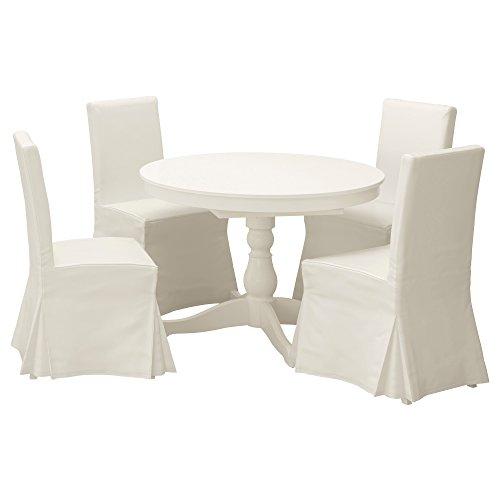 IKEA Ingatorp/HENRIKSDAL - Tisch und 4 Stühle Weiß/Blekinge weiß