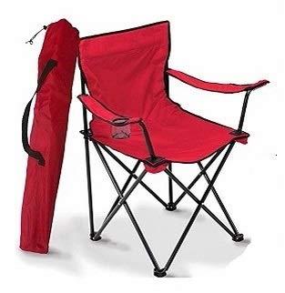 A&D Silla de Camping Plegable (Rojo)