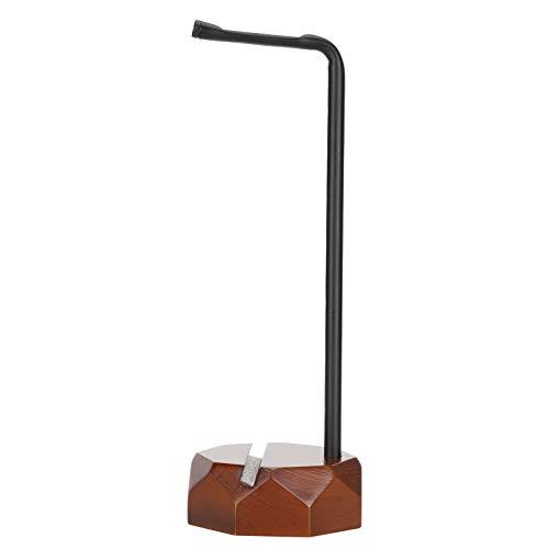 Barniz Rack Auricular Titular Negro Nogal Percha Suministros de Oficina Silicona Cojín Protectora Sólido para Al lado de TV para todo tipo de Auriculares