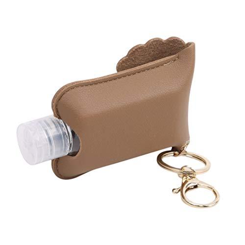 LPOQW - Llavero de viaje con botella vacía de 60 ml, contenedor recargable para champú loción líquido para sol, crema de sol, accesorios de viaje, albaricoque