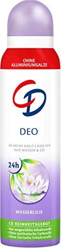 CD Deo-Spray 'Wasserlilie', 6 x 150 ml, Deodorant ohne Aluminiumsalze, langanhaltender Schutz für 24 h, für empfindliche Haut geeignet, vegane Körperpflege