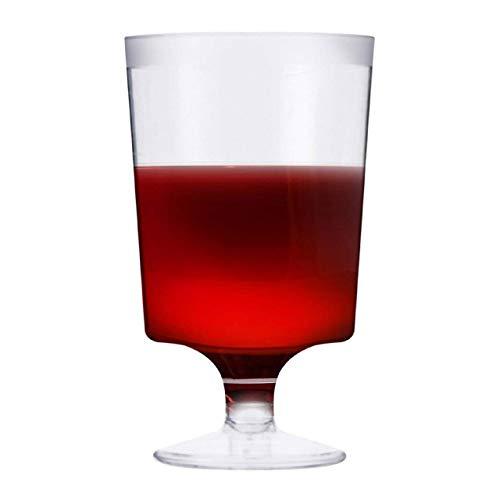 50 Pezzi Bicchieri da Vino in Plastica Riutilizzabili, Calici da Vino Trasparenti, 180ml - Elegante e Resistente.