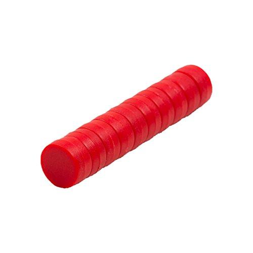 Magnetastico® | 10x Starke Neodym Magnete mit Schutzschicht | Farbe Rot & Größe 12x6 mm | Starke Supermagnete, Büromagnete | Mini-Magnete für Magnettafel, Kühlschrank, Whiteboard & Glasmagnettafel